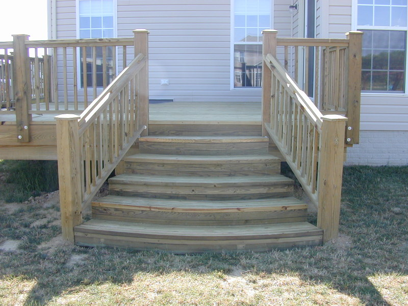 Wooden Stair Layout Decorations