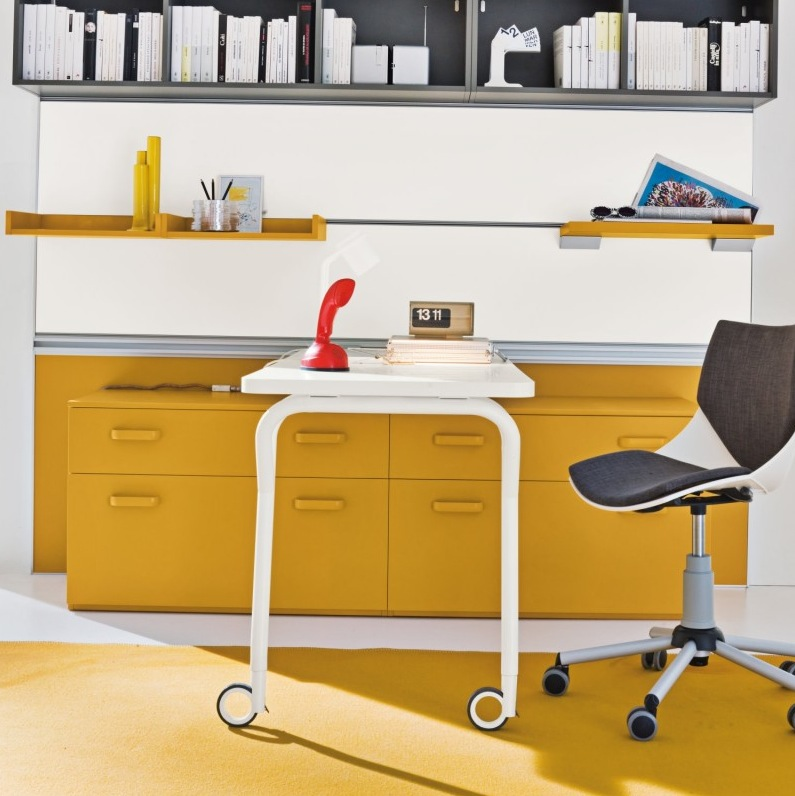 Yellow Clever Home Office Decor Ideas