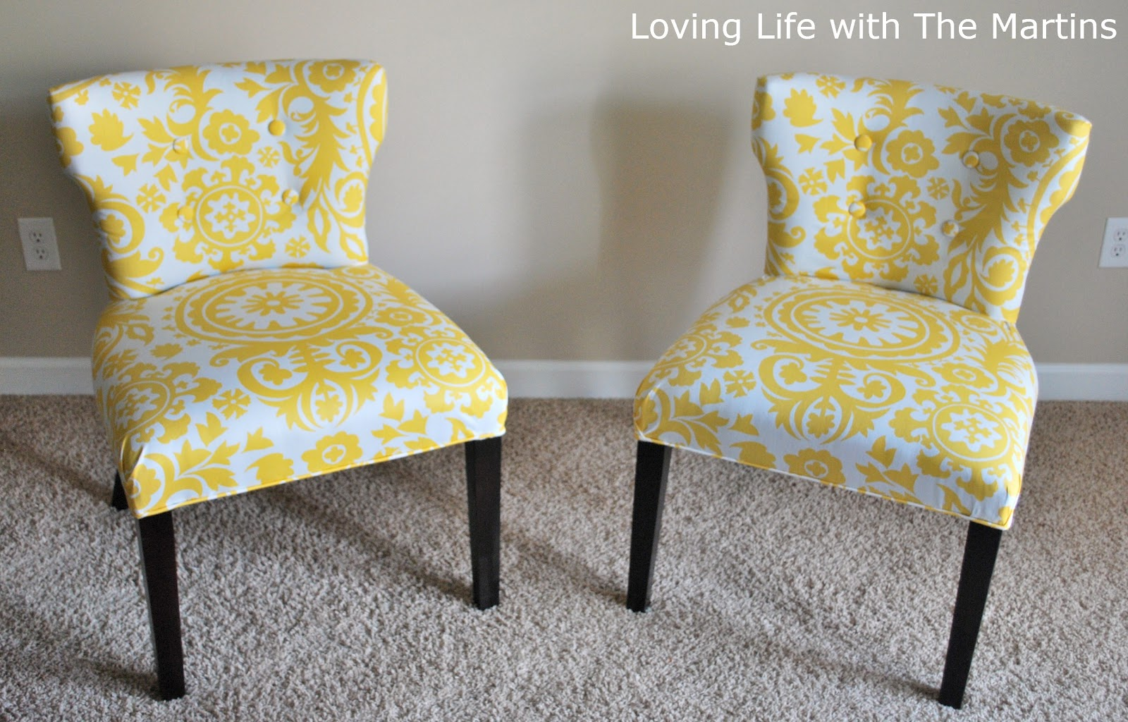 Yellow Reupholstering a Chair Design