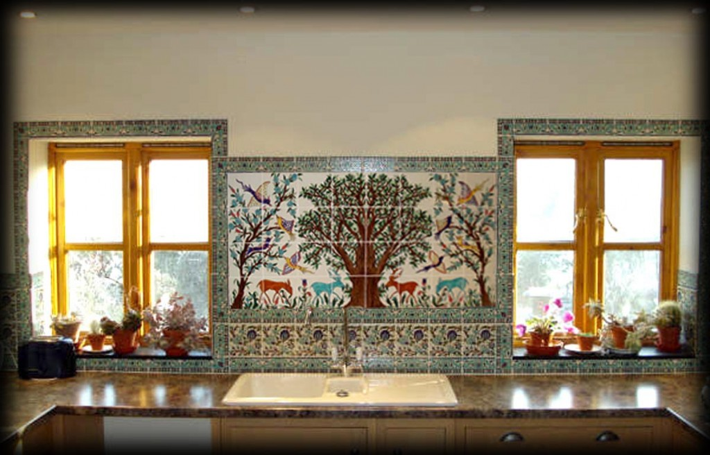 Zoo Theme Design Tiles Backsplash For Kitchen