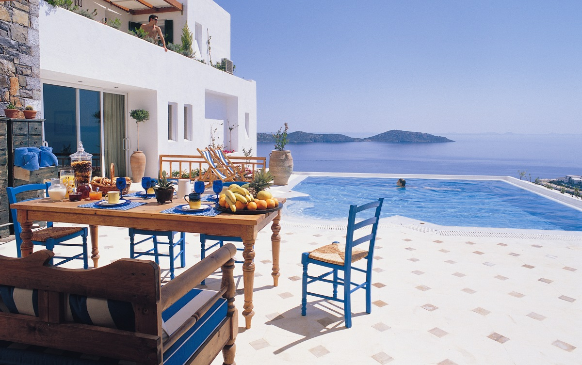 beautiful greece villa