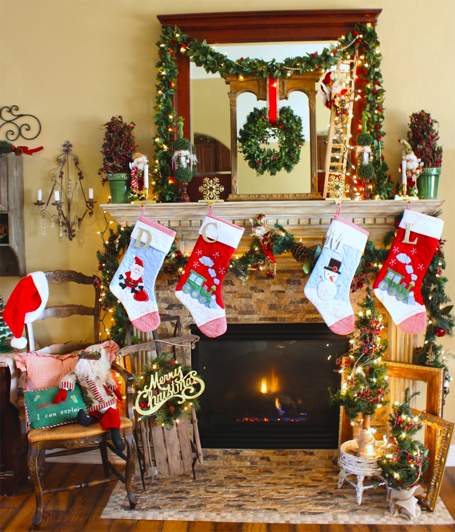 Christmas Mantel Diy Decorations Ideas (Image 3 of 10)
