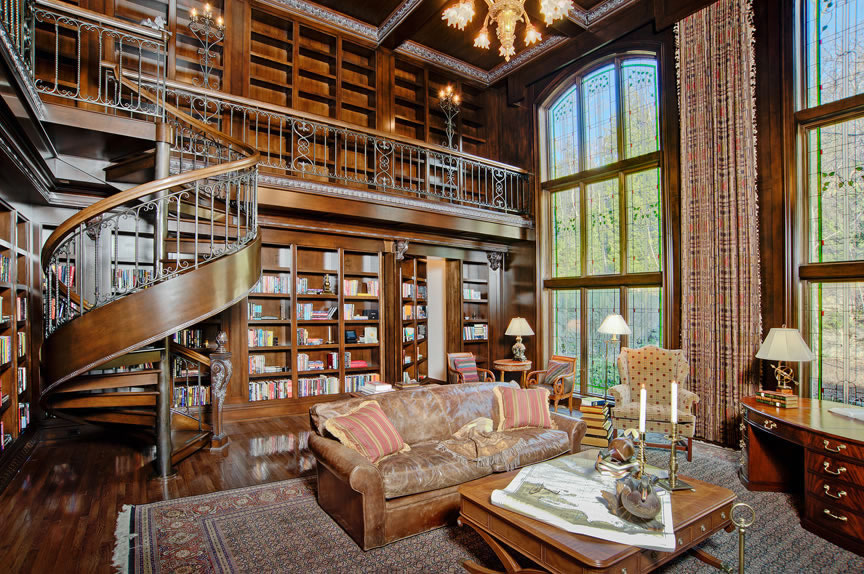 Classic Home Library Design Ideas (Image 3 of 10)