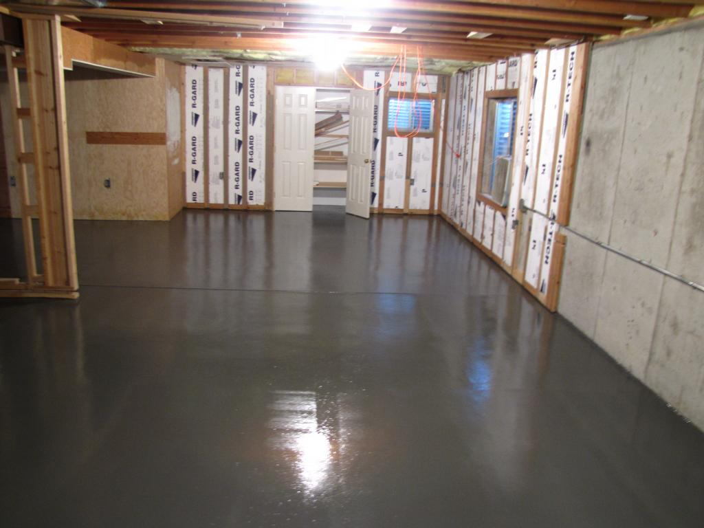 concrete paint for basement floor