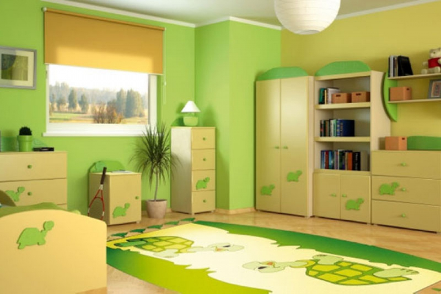 green paint color for girls bedroom