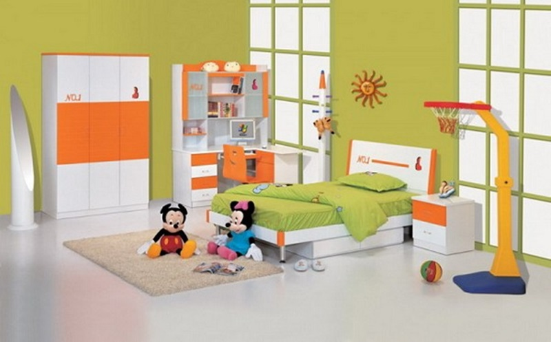 Kids Bedroom With Playground Area And Cartoon Themes (Image 9 of 10)