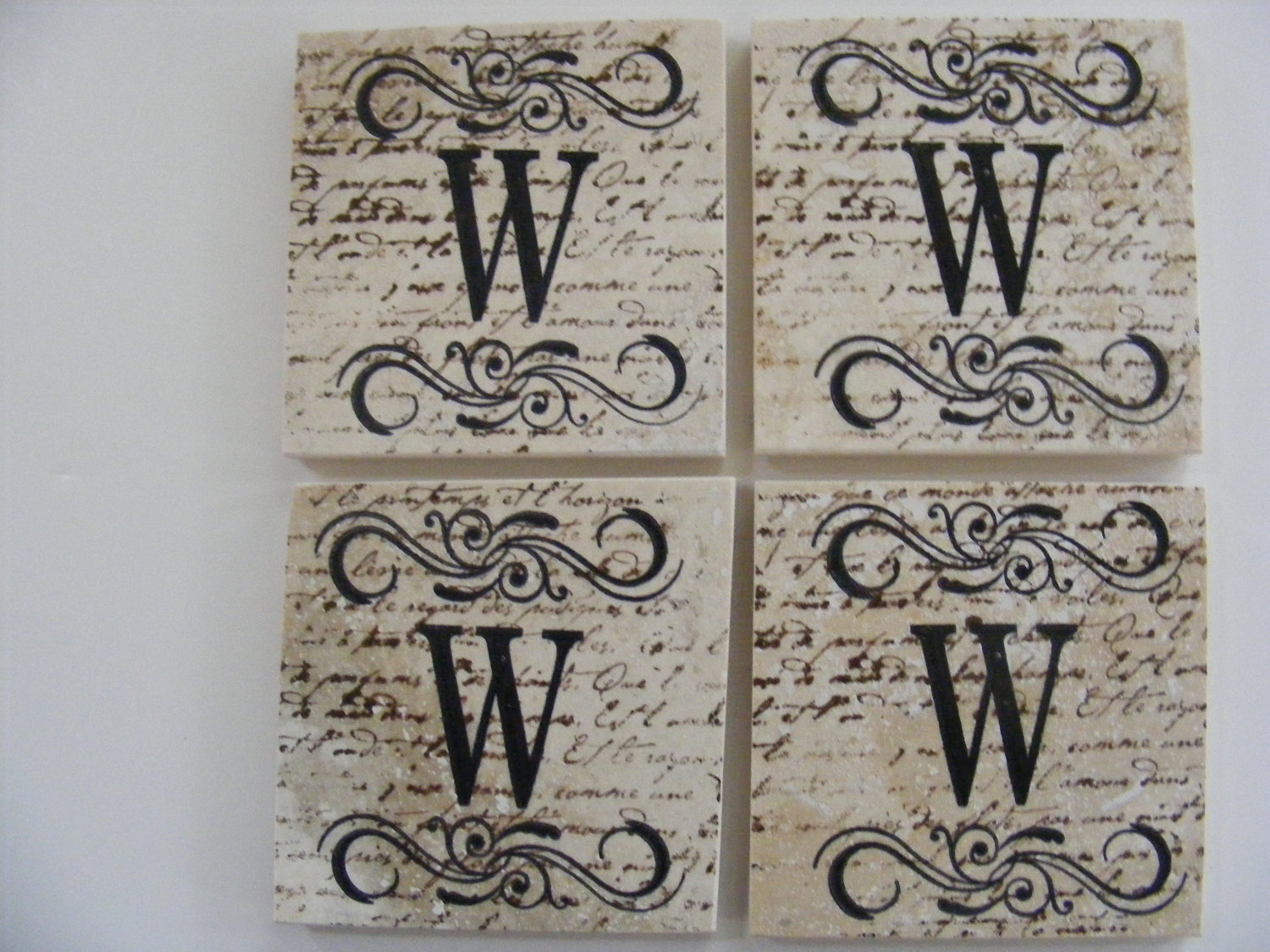 Monogram Tiles Home Decor