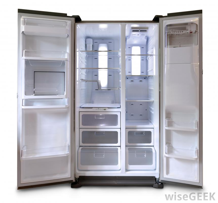 White Open Refrigerator (View 4 of 10)