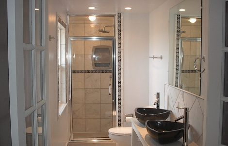 Black And White Bathroom Great Decision For An Eye Catching Bathroom Custom Home Design