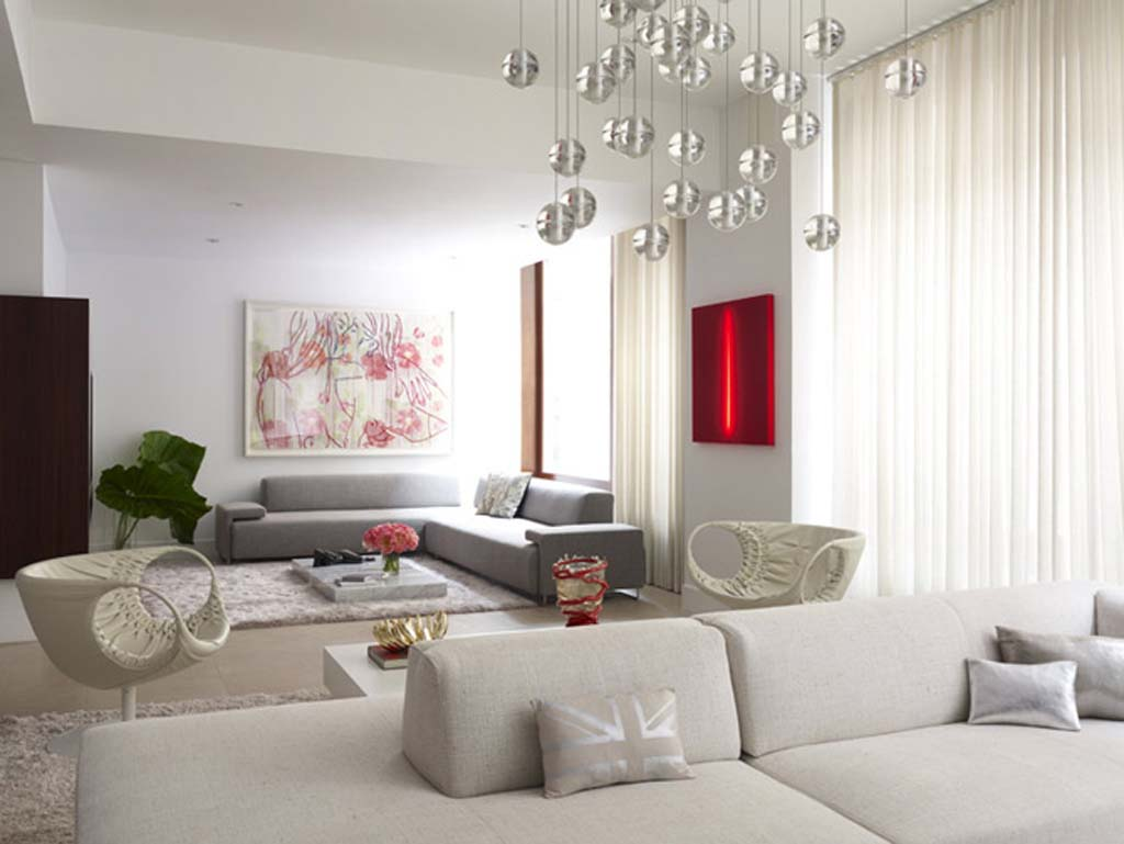 Glamour Lamp Designers in Living Room Decoration