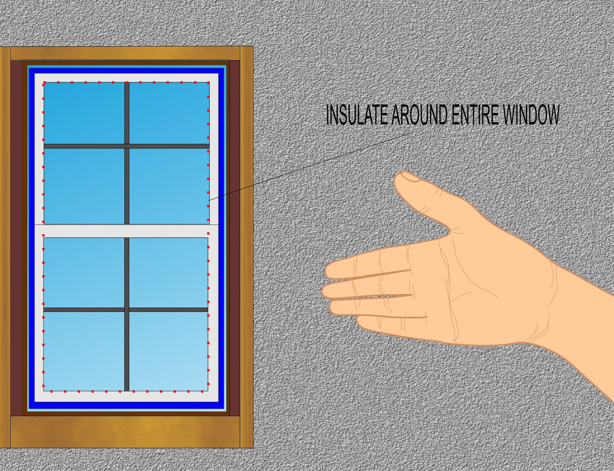 Install Vinyl Replacement Windows Step