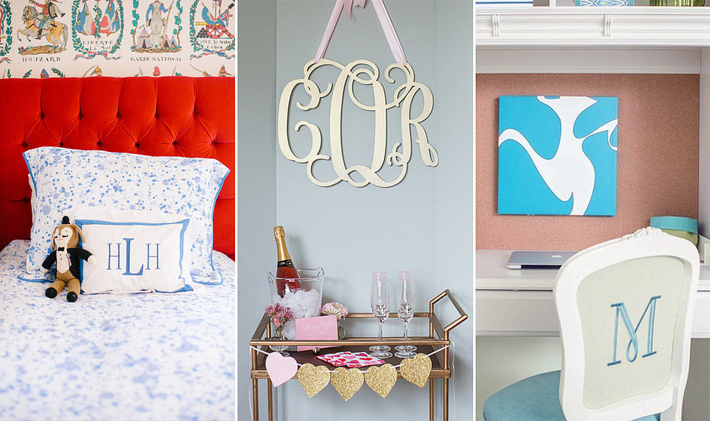 Monogrammed Home Decorating Accessories Ideas (View 5 of 10)