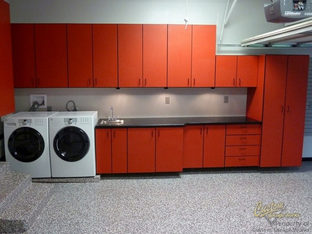 Orange Garage Cabinet Plans Ideas