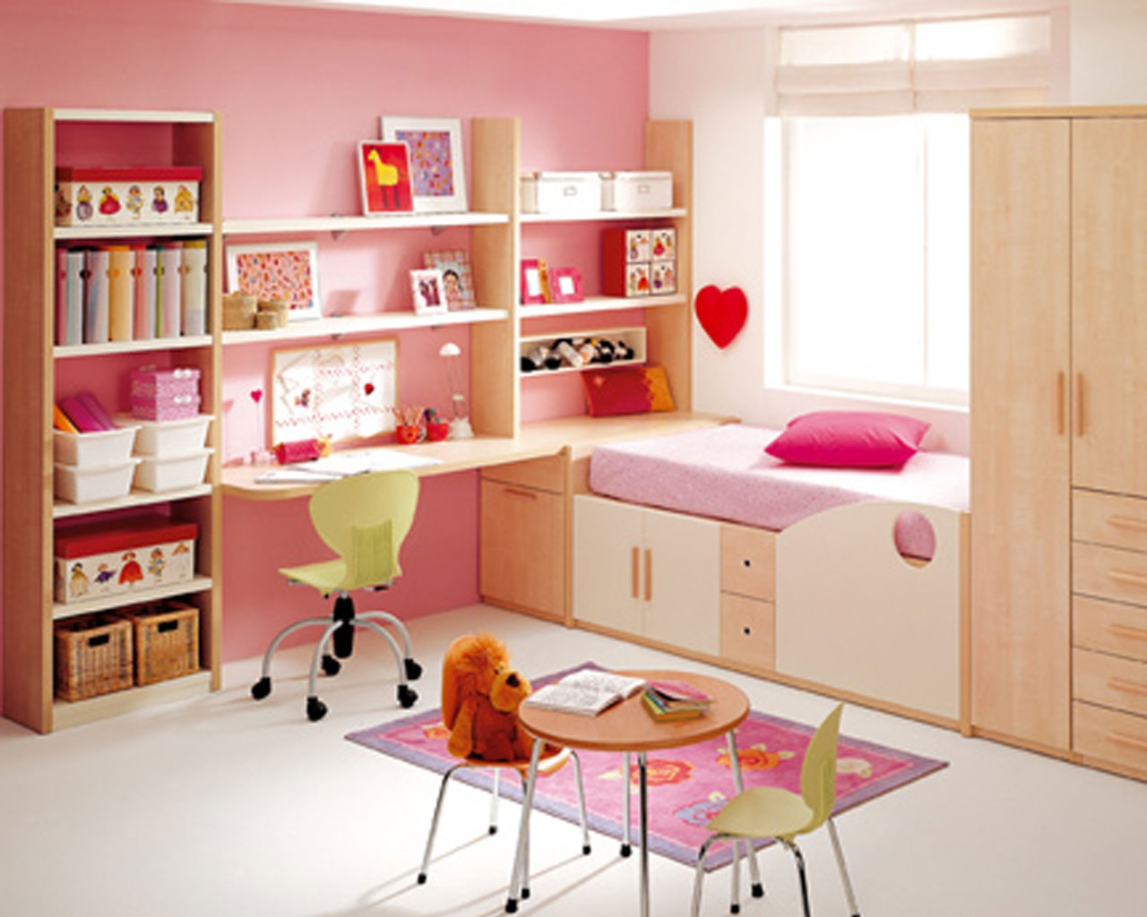 Pink Loft Bed for Your Children
