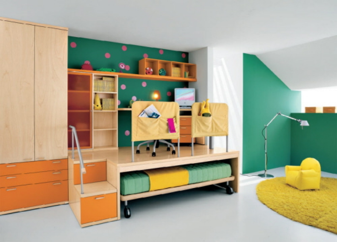 Polkadot Loft Bed For Your Children (Image 6 of 10)