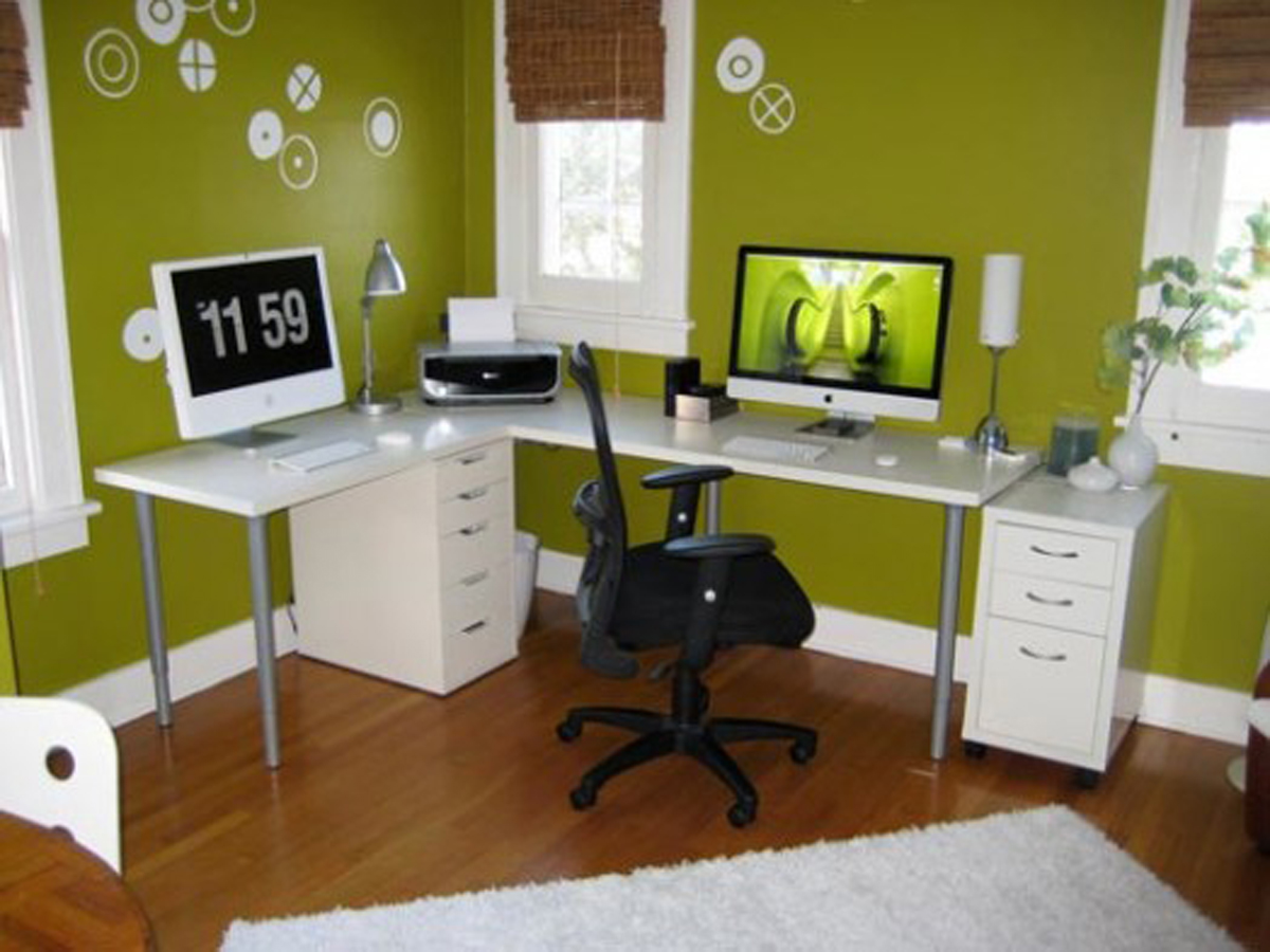 Relaxing Clever Home Office Decor Ideas (Image 6 of 13)