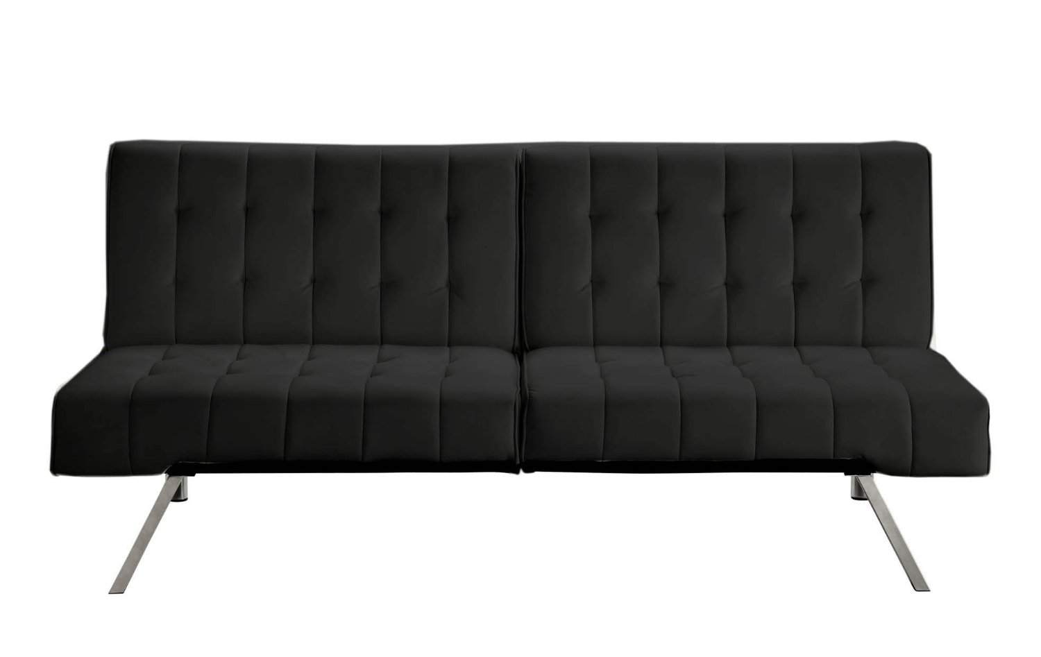 Simple Black Leather Sleeper Sofas