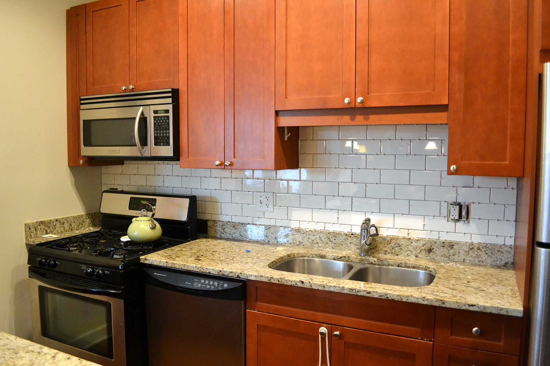 Simple Brown Tile Designs for Backsplash