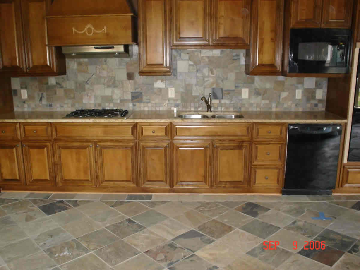 Slate Kitchen Tile Backsplash Atlanta (View 9 of 10)
