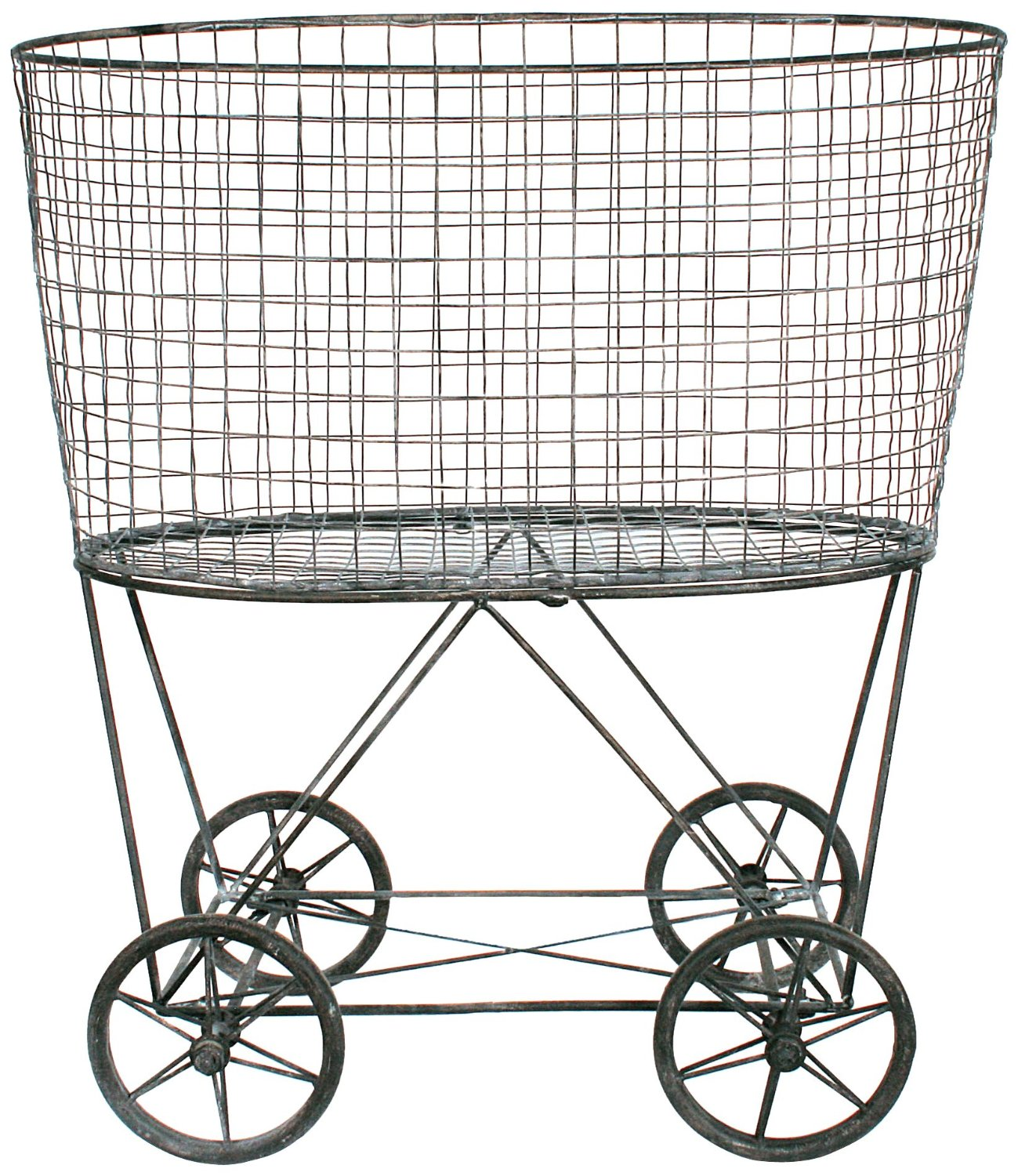 Steel Laundry Basket On Wheels Ideas (Image 6 of 10)