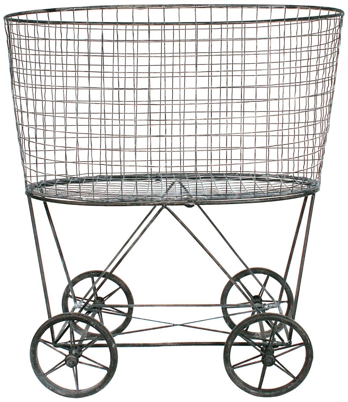 Steel Laundry Basket on Wheels Ideas