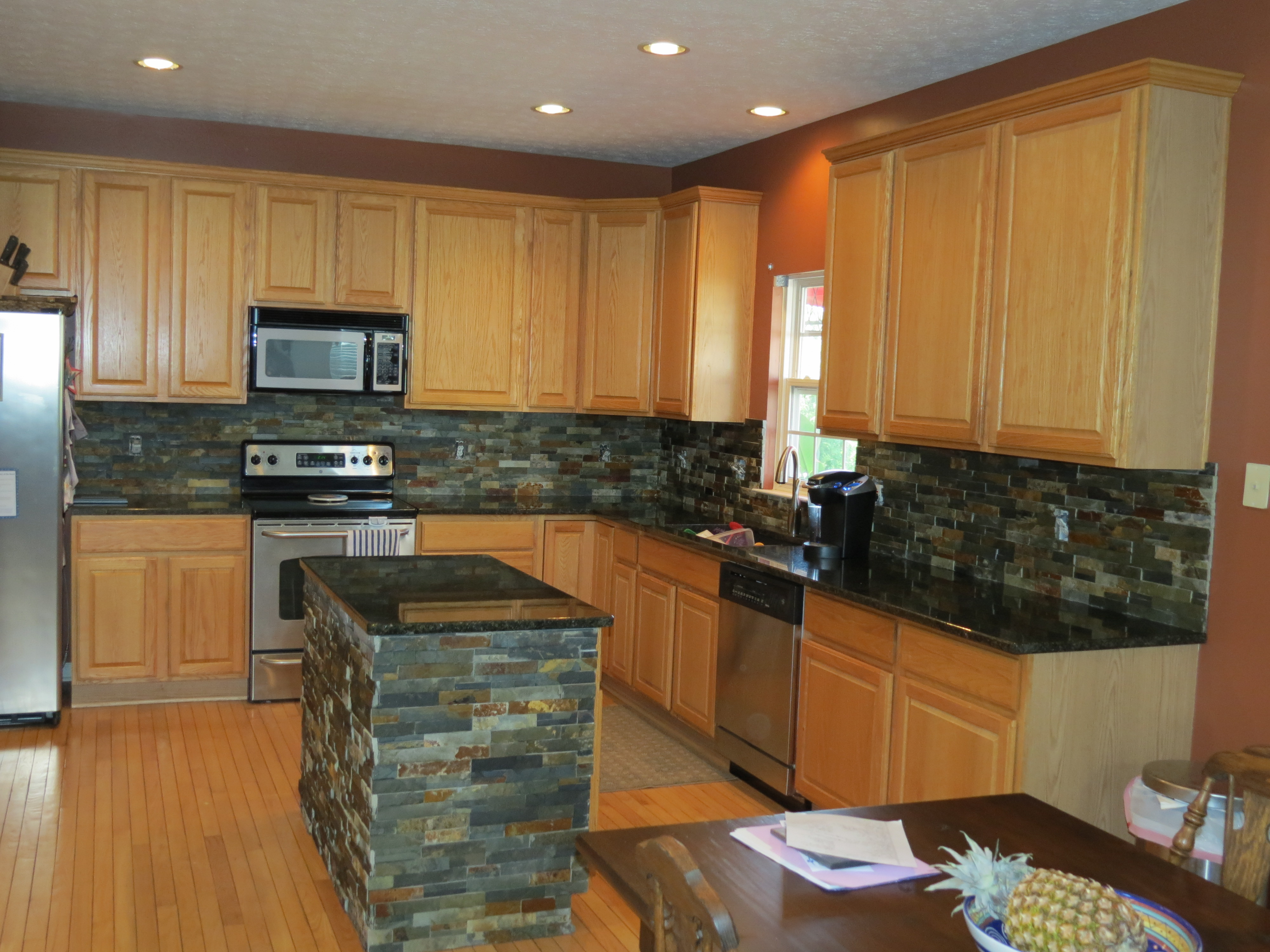 Featured Photo of Brown Glass Tile Designs For Backsplash