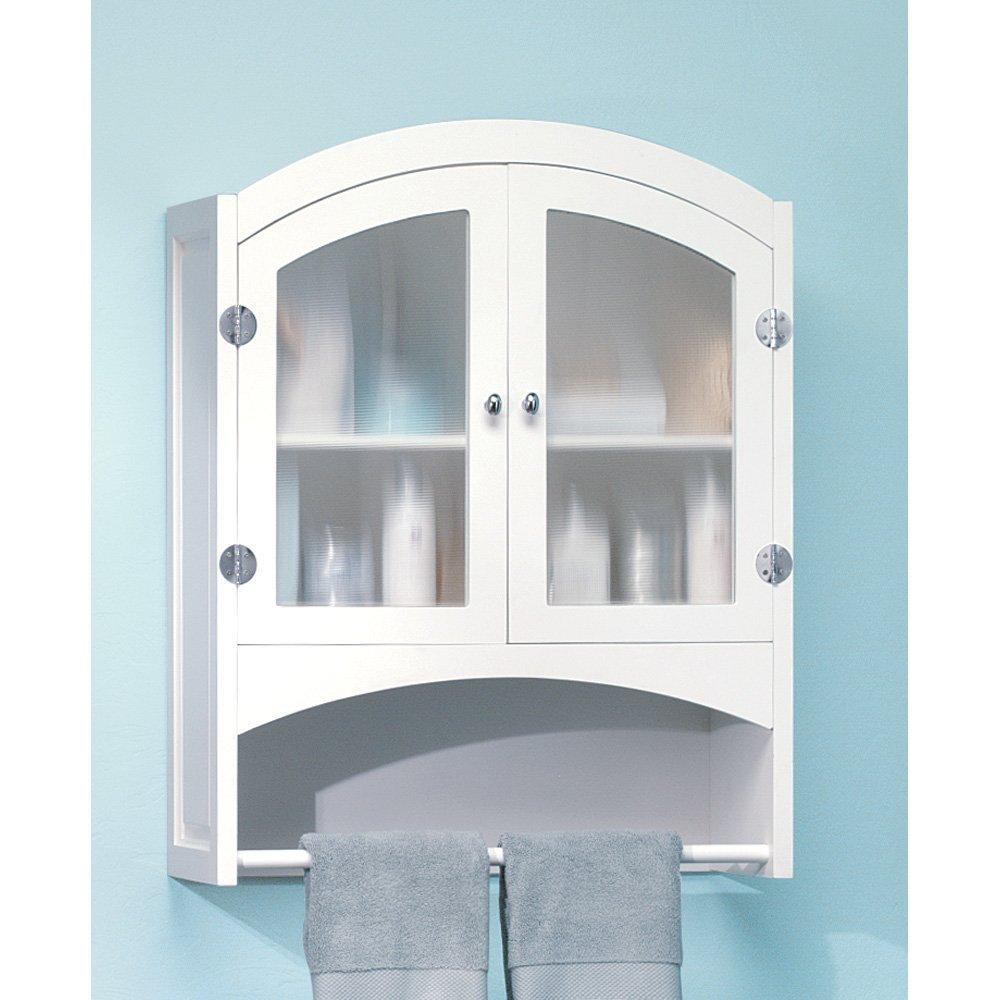White Minimalist Glass Cabinets (Image 8 of 10)