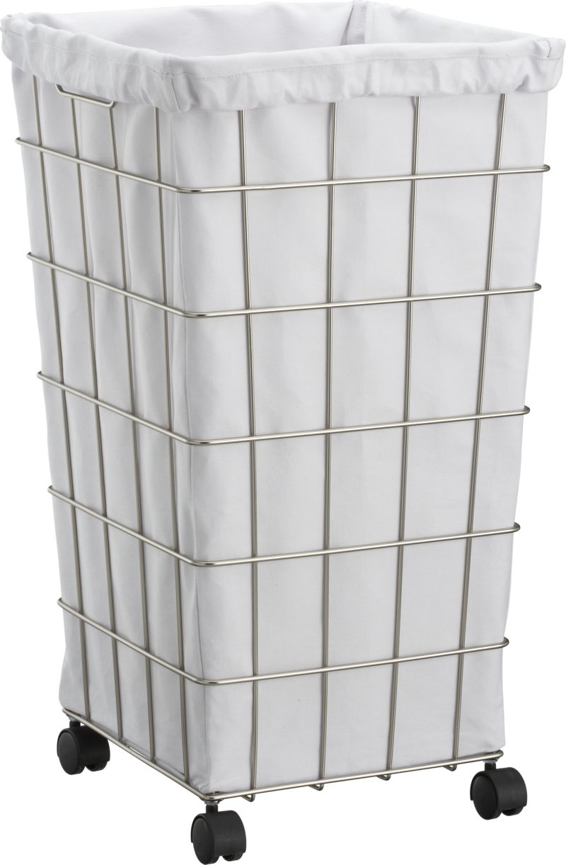 Featured Image of Nice Looking Laundry Basket On Wheels Ideas