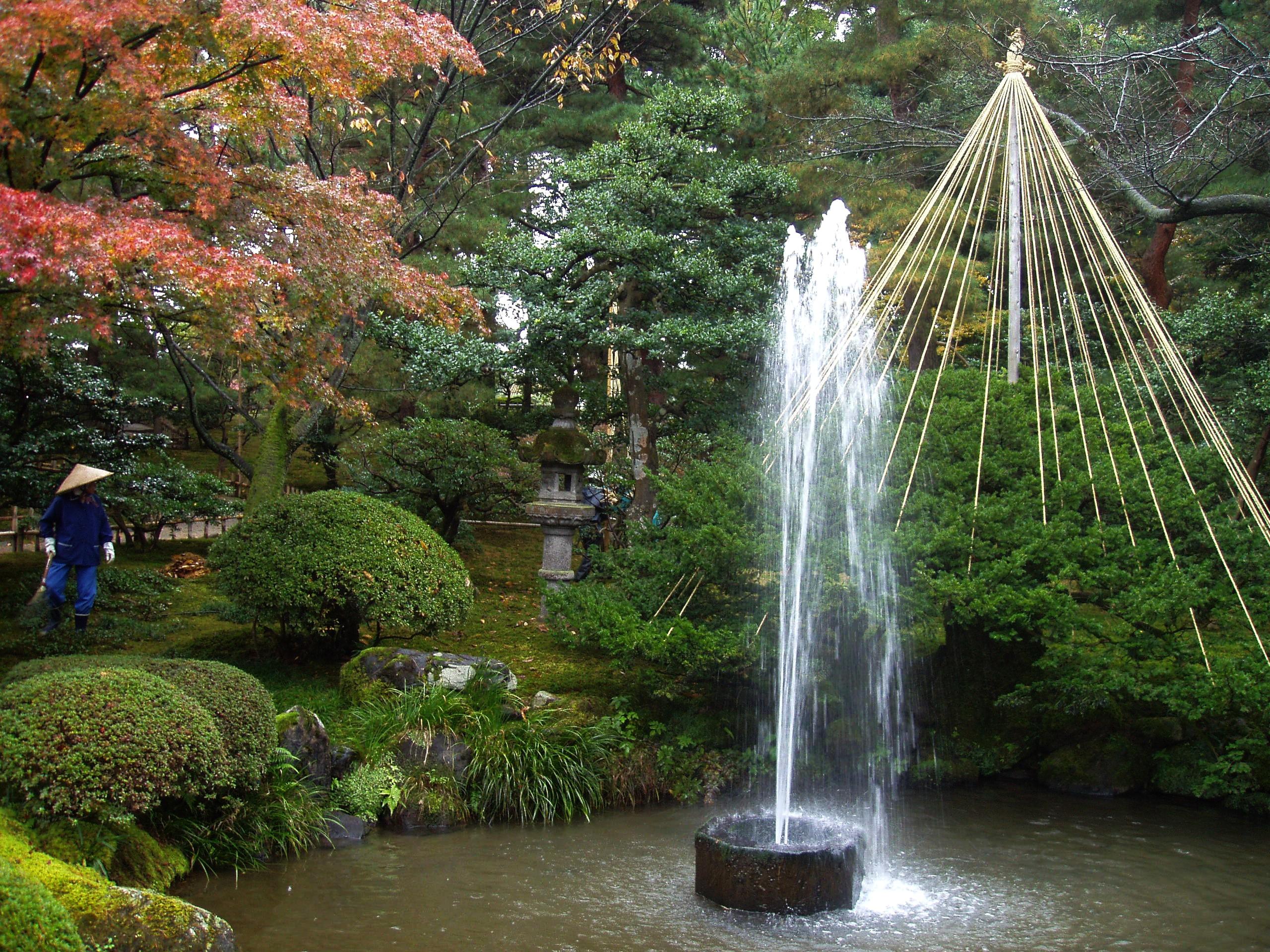 Japanese garden water fountain ideas