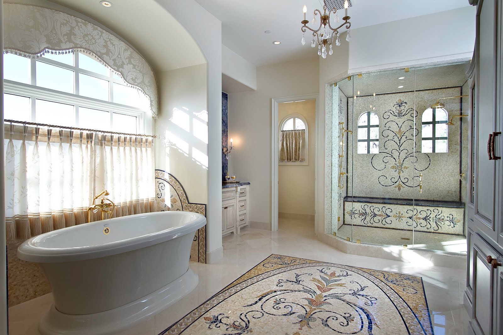 Mosaic Marble For Classic Bathroom Flooring #3506 Gallery (Photo 124 ...