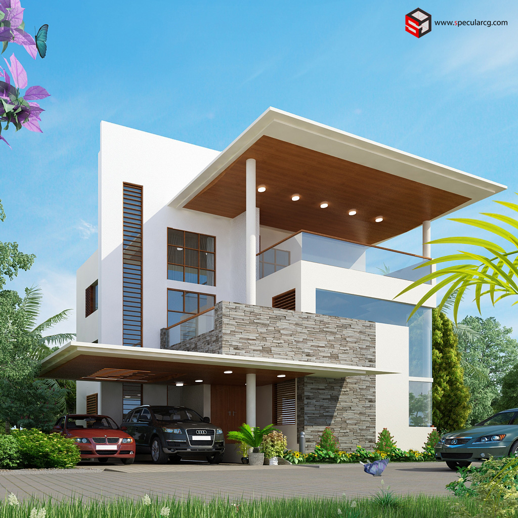 2015 Minimalist Modern House Exterior Design Concept