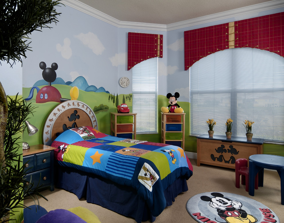 Kid Bedroom Mickey Mouse Interior Theme (View 3 of 8)