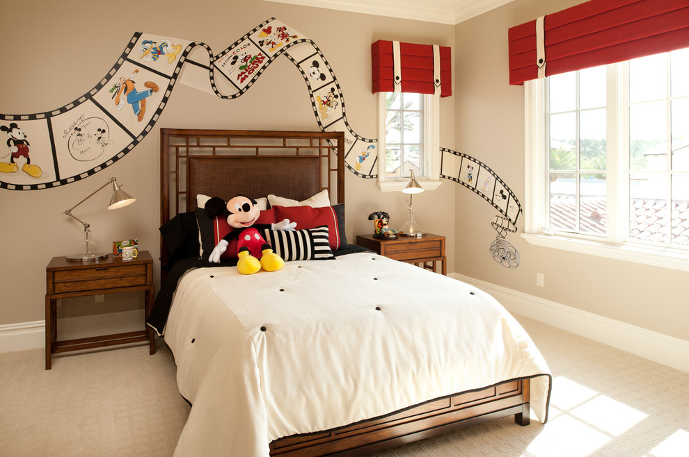 Traditional Bedroom Decor In Mickey Mouse Theme (View 1 of 8)
