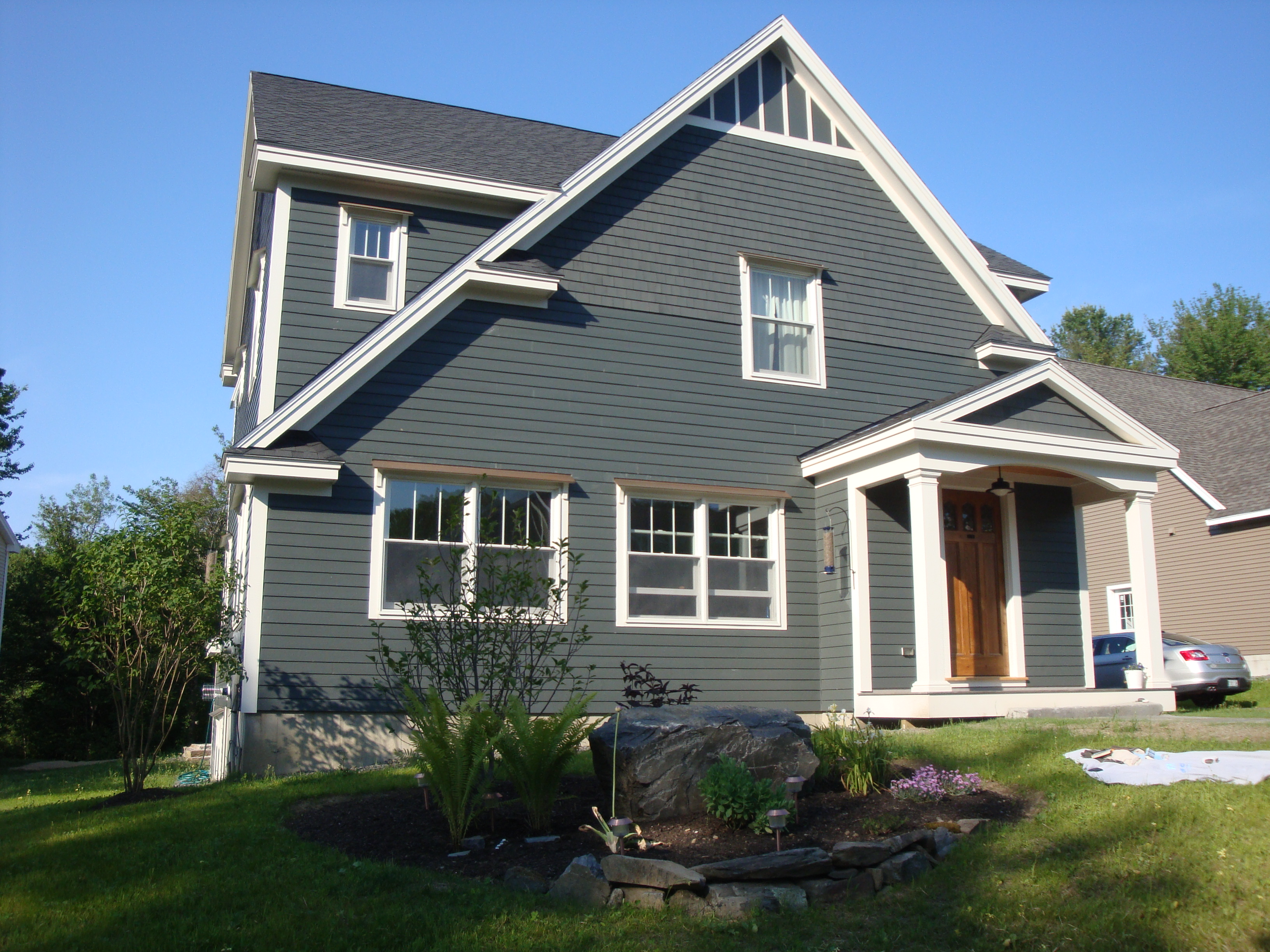 Artistic Wooden House Exterior Paint