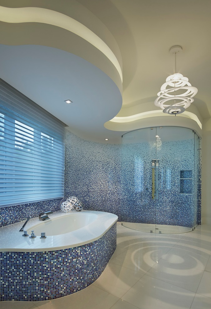 Beauty And Luxury Ocean Inspired Bathroom Image 1 Of 16