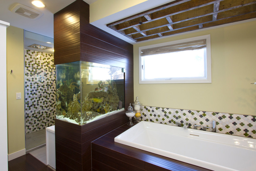 Contemporary Bathroom With Fish Tank Aquarium (Image 5 of 21)