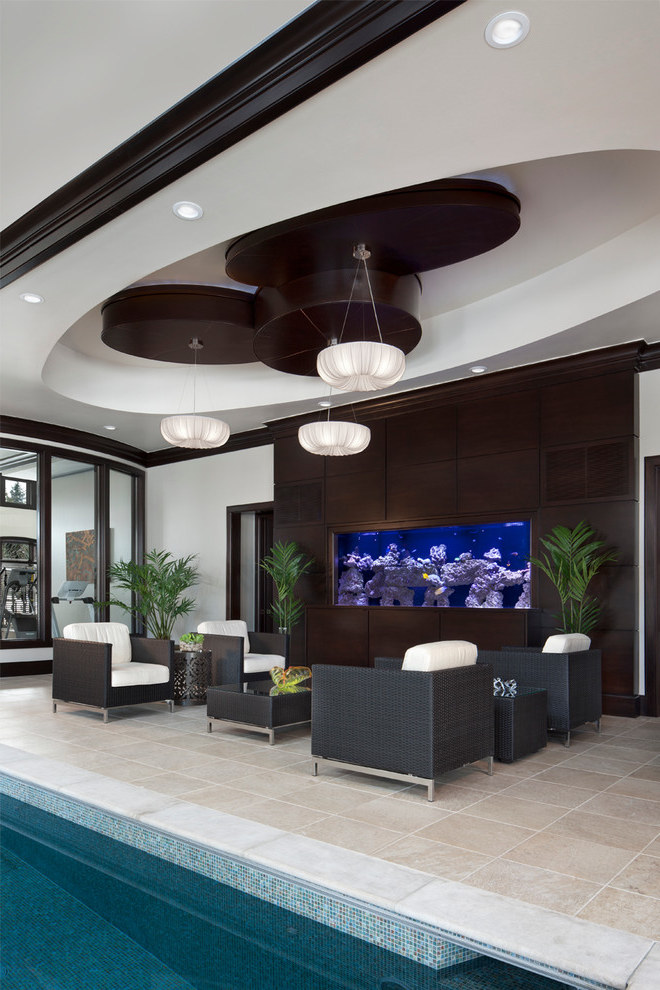 Contemporary Patio With A Aquarium Water Feature (Image 7 of 21)