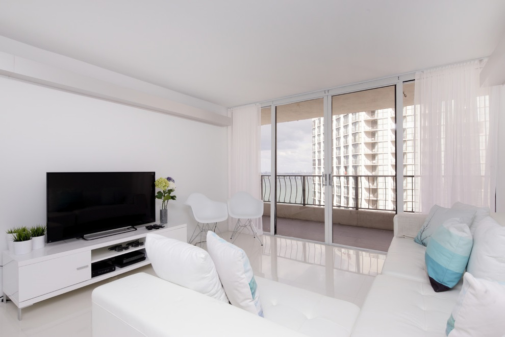 Contemporary White Apartment Interior