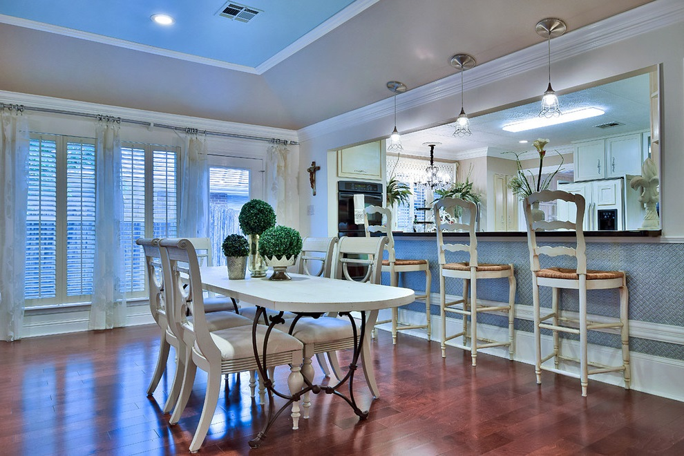 Country Dining Room And Kitchen Interior In One Room Combination (View 16 of 17)