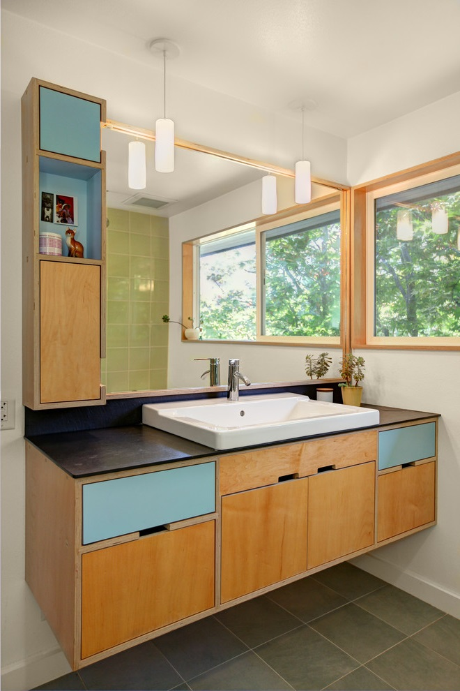 Cozy Bathroom Vanity And Cabinets Painting (Image 6 of 17)