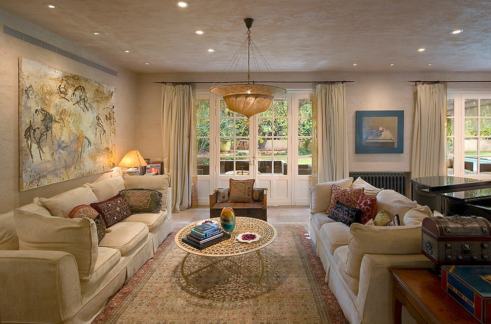 French Living Room Interior Furniture Decoration