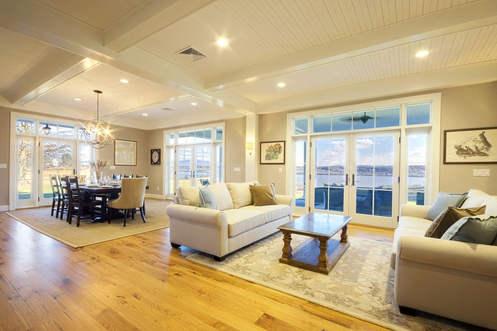 French Living Room and Dining Room Interior Combo
