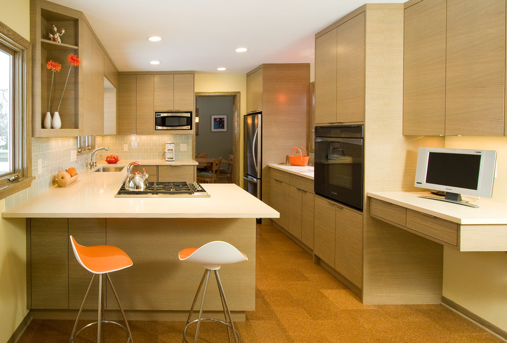 Futuristic Apartment Kitchen With Undermount Sink (Image 5 of 21)