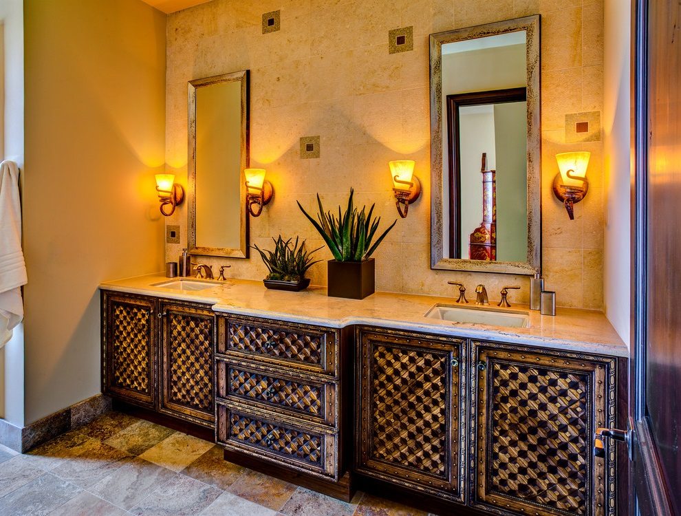 Mediterranean Style Bathroom Vanity For Rustic Nuance (Image 11 of 17)