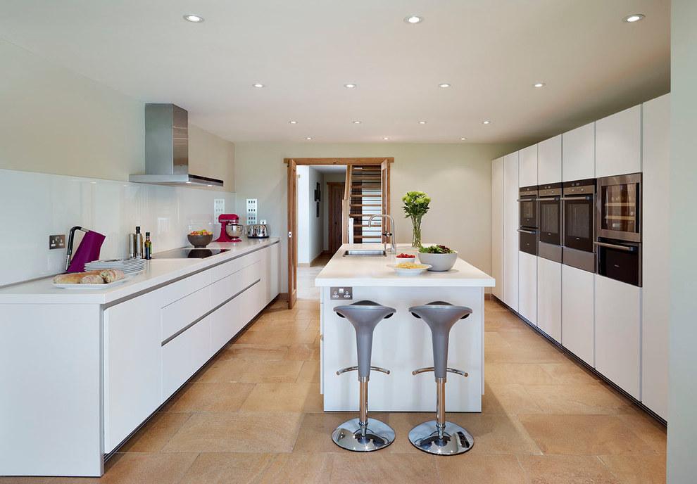 Minimalist Futuristic Kitchen Interior Inspiration (Image 14 of 21)