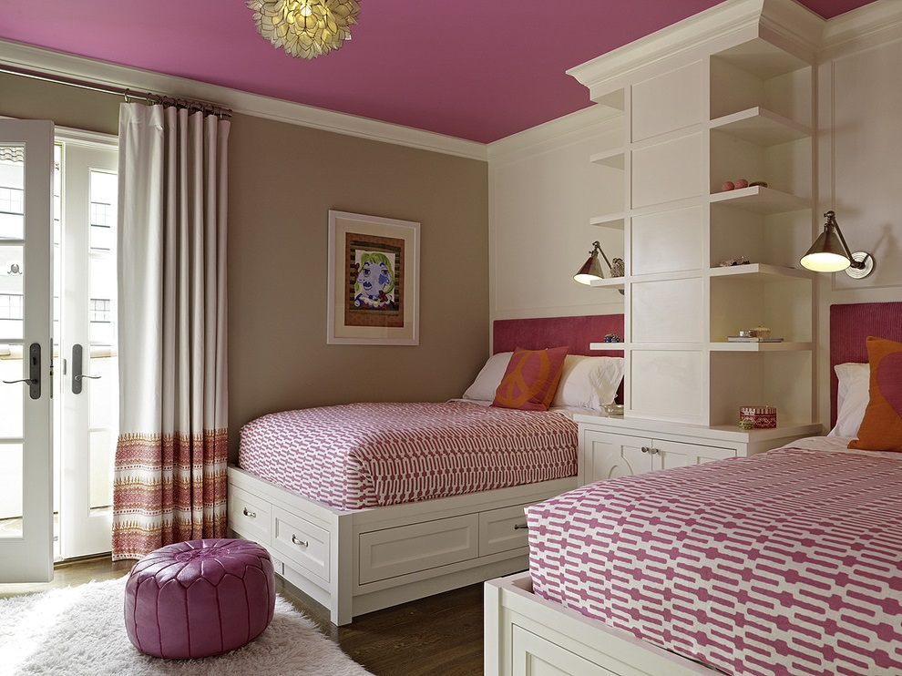 Modern Girl Bedroom With Twin Bed (View 1 of 11)