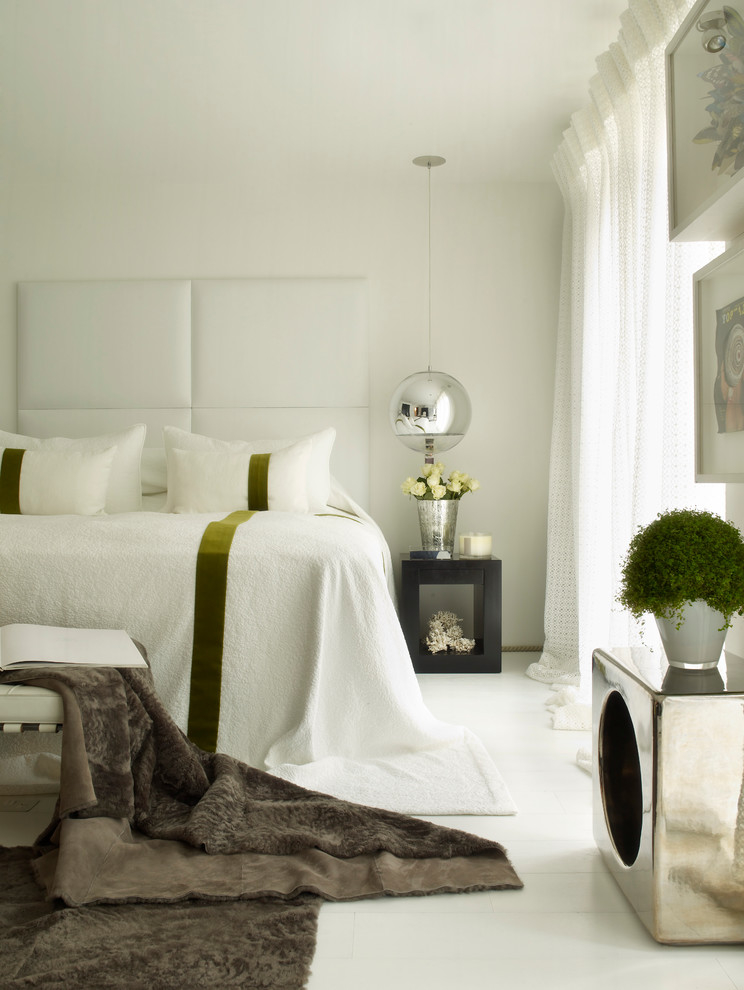 New Modern White Bedroom Interior (View 21 of 22)