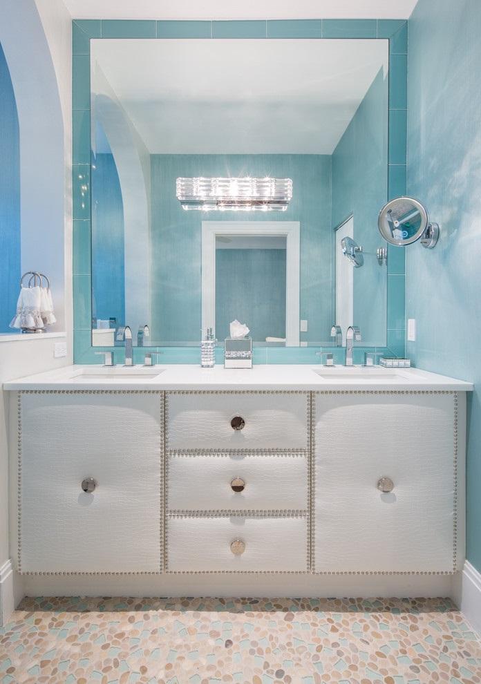 Ocean-Inspired Bathroom Vanities and Cabinet