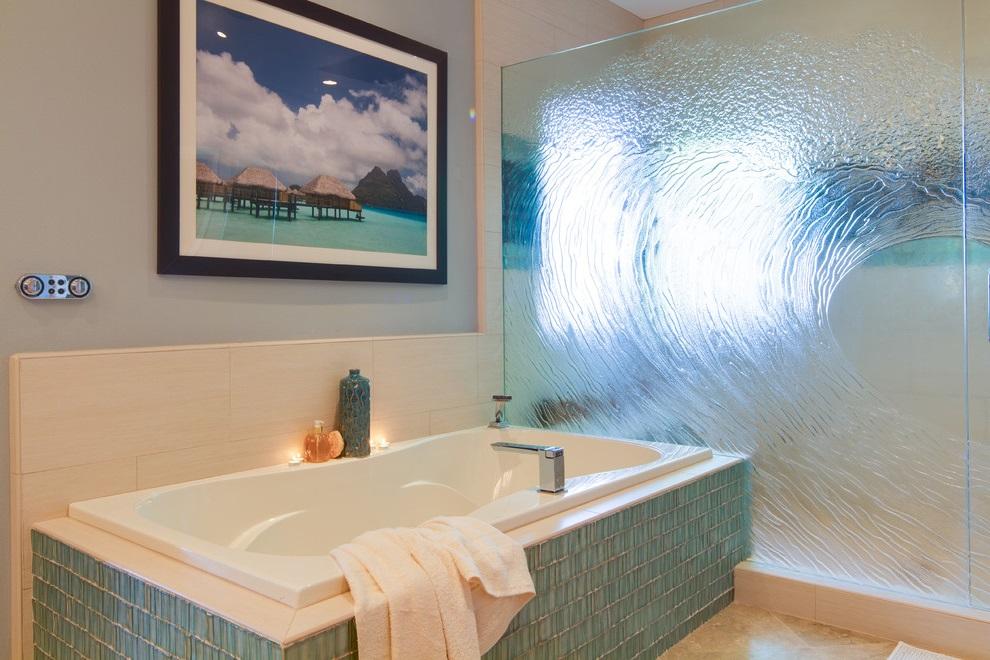 Ocean-Inspired Bathroom in Modern Style