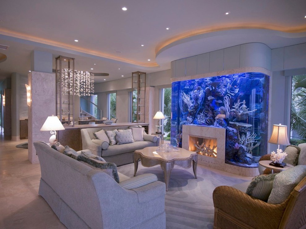 Featured Photo of Anti Stress: Aquariums In Living Room